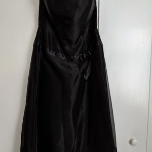 Black Strapless Party Wedding Cocktail Dress 10